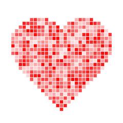 Red pixel Heart. Vector illustration