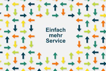 Wallpaper Pfeile - Einfach mehr Service