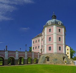National cultural monument Castle and Chateau of Becov nad Teplou in the west part of the Czech Republic near the world famous spa town Karlovy Vary.