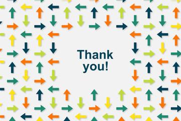 Wallpaper Pfeile - Thank you