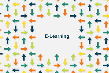 Wallpaper Pfeile - E-Learning