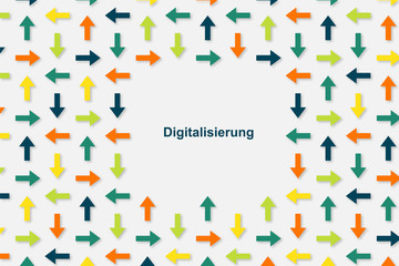 Wallpaper Pfeile - Digitalisierung