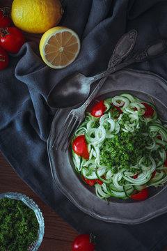 Zucchini & Pesto