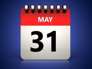 3d 31 may calendar
