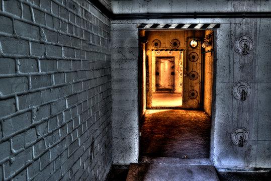 Tür in den Bunker