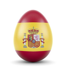 The flag of Spain on a very realistic rendered egg.(series)