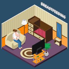 Breastfeeding Isometric Composition