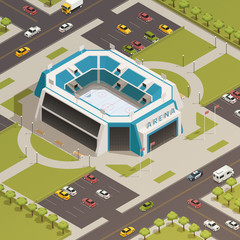 Stadium Sport Arena Isometric Composition