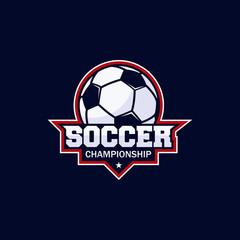 Football club bagde, soccer championship , Football tournament. Vector logo template