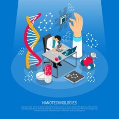 Nano Technologies Isometric Composition