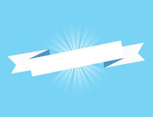 Blue ribbon. Illustration Design graphic. Vintage ribbon.