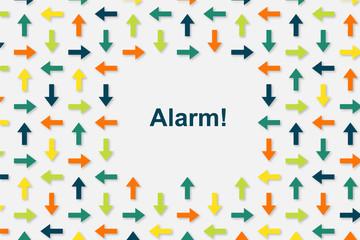 Wallpaper Pfeile - Alarm