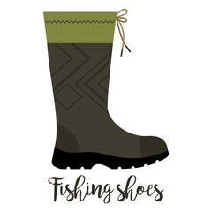Fishing shoe with text icon