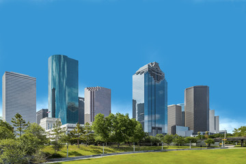 Foto op Textielframe Texas Skyline of Houston, Texas