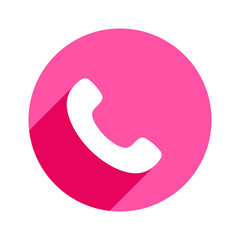 Phone icon in trendy flat style isolated. Handset icon. Telephone symbol for your design, logo, UI.