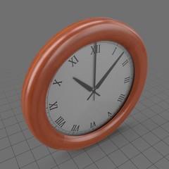 Modern wood wall clock