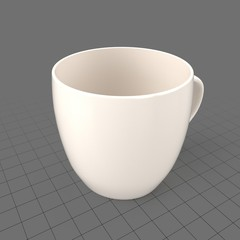 Cup with rounded top