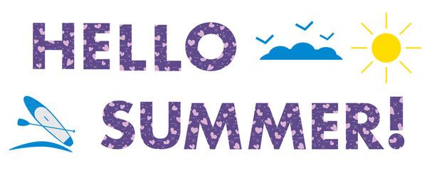 Hello summer. Sun, hearts, SUP board.