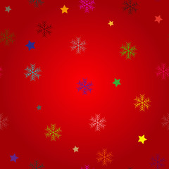 Winter Seamless colorful Snowflake Pattern. Vector EPS 10. snowflakes seamless. Christmas background with star