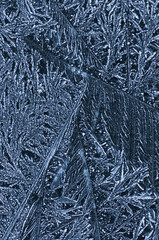 abstract ice structures on roofing