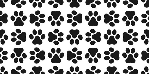 Dog Paw Seamless pattern vector isolated paw puppy cat wallpaper background white