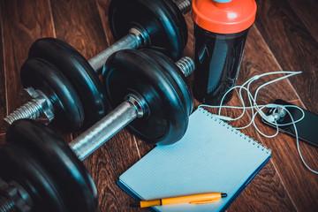 fitness equipment on the floor