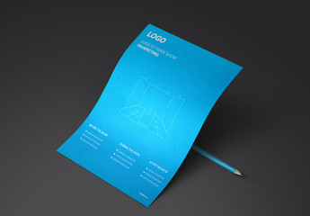 Blue Trade Show One Sheet Layout