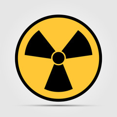 radiation icon symbol on white background,Vector illustration