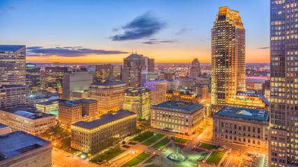 Fototapete - Cleveland, Ohio, USA Cityscape