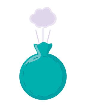 blue whoppie cushion over white background vector illustration
