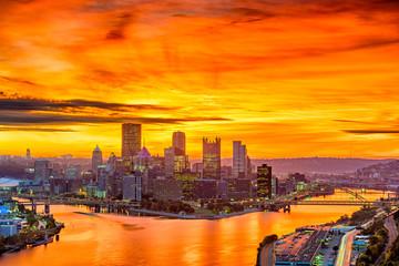 Fotomurales - Pittsburgh, Pennsylvania, USA Skyline