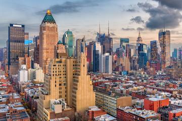 Garden Poster New York Midtown Manhattan Cityscape