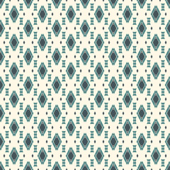 Ethnic style seamless pattern with repeated diamonds. Native americans background. Tribal motif. Eclectic wallpaper.