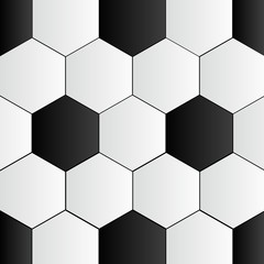 Abstract Black and White Soccer Background vector illustration