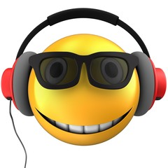 3d yellow emoticon smile