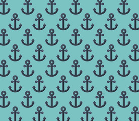 Anchor Pattern Background, colorful design vector illustration