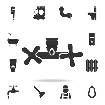water tap knobs icon. Detailed set of plumber element icons. Premium quality graphic design. One of the collection icons for websites, web design, mobile app