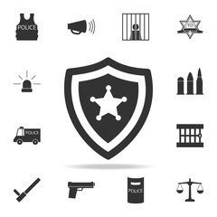 police badge icon. Detailed set of police element icons. Premium quality graphic design. One of the collection icons for websites, web design, mobile app