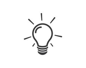 bulb logo vector ilustration
