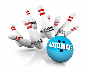 Automate Manual Tasks Bowing Ball Strike 3d Illustration