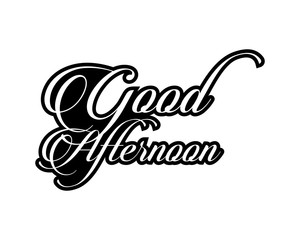 good afternoon typography typographic creative writing text image icon