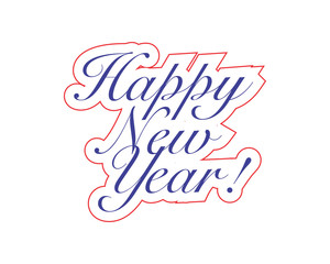 happy new year typography typographic creative writing text image icon 1