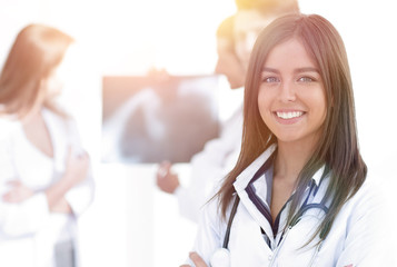 closeup.successful woman doctor