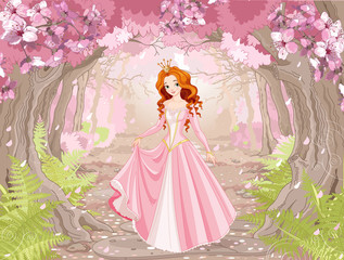Poster Fairytale World Beautiful Red Haired Princess