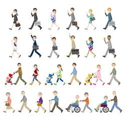 様々な人々のイラスト / ビジネスと家族