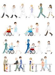 様々な人々のイラスト / 医療