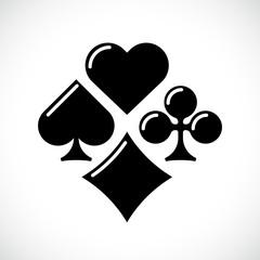 Playing Card Suit Icon set. Vector illustration symbols isolated on white background