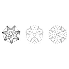 Holiday patterns of stars and flowers for gifts