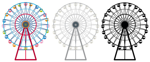 Ferris wheels in three designs