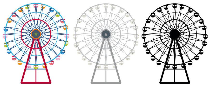 Ferris wheels in three designs